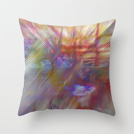 Textural Mountains 2 Throw Pillow
