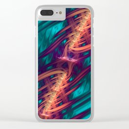 Spinal Tap - Fractal Art Clear iPhone Case