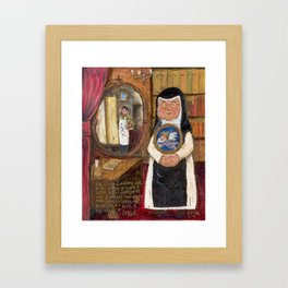Sister Laica of Baby Jesus and the Artist by Juan Manuel Rocha Kinkin Framed Art Print