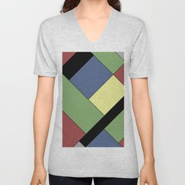 Abstract #822 Unisex V-Neck