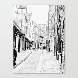 The Shambles in York City Canvas Print