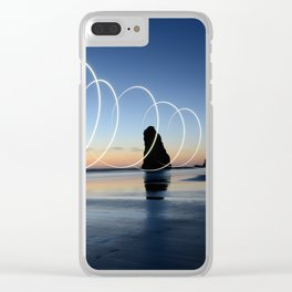 Ocean light rays Clear iPhone Case