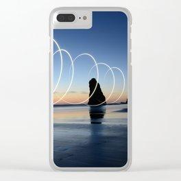 Ocean light rays Clear iPhone Case