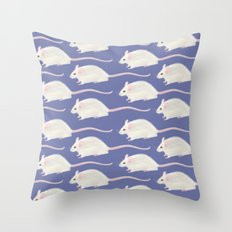 ALL THE MICE Throw Pillow