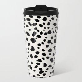 Polka Dots Dalmatian Spots Metal Travel Mug