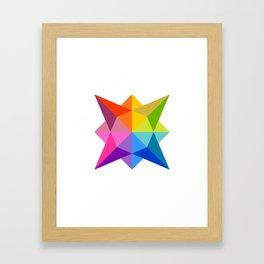 Celestial Rainbow Star Framed Art Print