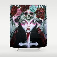 coven Shower Curtains featuring Coven by Kao Lee Thao @InnerSwirl.com