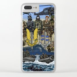 He Who Dares Clear iPhone Case