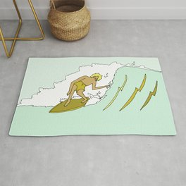 70s outer banks surf // retro surf by surfy birdy Rug