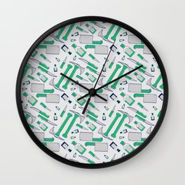 Murder pattern Green Wall Clock