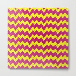 Loopy Zigzags Metal Print