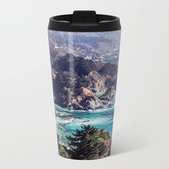 Coastline sea Metal Travel Mug