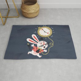 White Rabbit - Alice in Wonderland Rug
