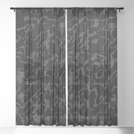 Wild Marble - Abstract dark Sheer Curtain