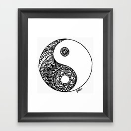Tangled Yin Yang Framed Art Print