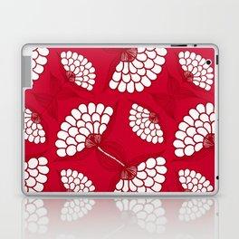 African Floral Motif on Red Laptop & iPad Skin