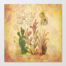 For the Love of Cactus Canvas Print
