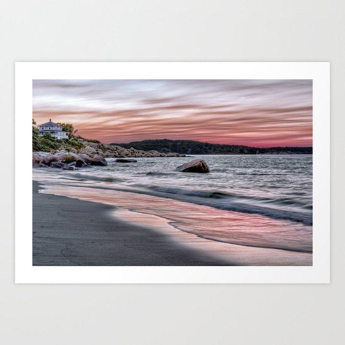 Pink Sunset on the beach Kunstdrucke