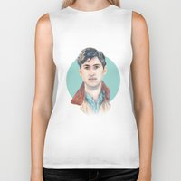 vampire weekend Biker Tanks featuring Ezra Koenig, Vampire Weekend by Megan Diño