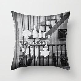 Le Pas Sage Throw Pillow