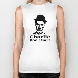 Charlie Chaplin Don't Surf Biker Tank