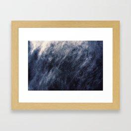 Blue Clouds, Blue Moon Framed Art Print