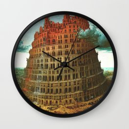 "Pieter Bruegel (also Brueghel or Breughel) the Elder ""The Tower of Babel (Rotterdam)"" Wall Clock"