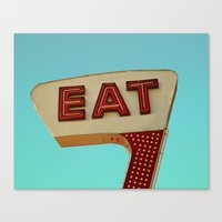 eat Canvas Prints featuring Eat by bomobob