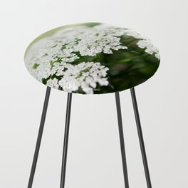White Queen Ann's Lace Counter Stool