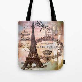 Eiffel tower collage Tote Bag