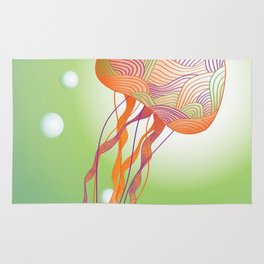 Secondary Colors Jellyfish Rug