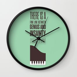 Lab No. 4 - Oscar Levant Planist Inspirational Quotes Poster Wall Clock