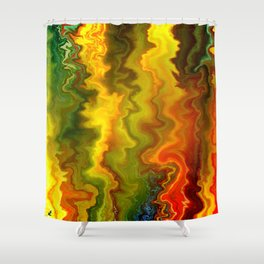 Colorful Thoughts by rafi talby Shower Curtain