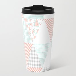 Trendy quilt pattern triangle quilt baby nursery gender neutral gifts for new baby room Travel Mug