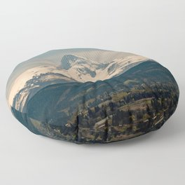 Mountain Valley Pacific Northwest - Nature Photography Floor Pillow
