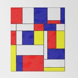 Mondrian #38 Throw Blanket