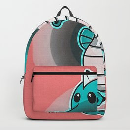 Glowing Neon Seahorse Backpack