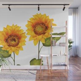 Sunflowers Illustration Wall Mural