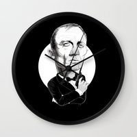 bond Wall Clocks featuring James Bond by drawgood