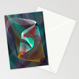 Visual impact, modern fractal abstract Stationery Cards