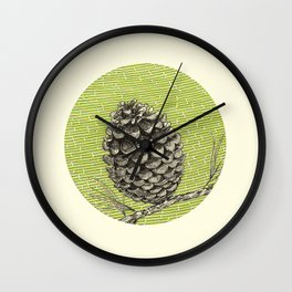 A pinecone Wall Clock