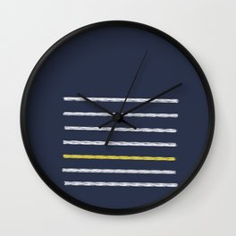 Lines and Shy Yellow Wall Clock