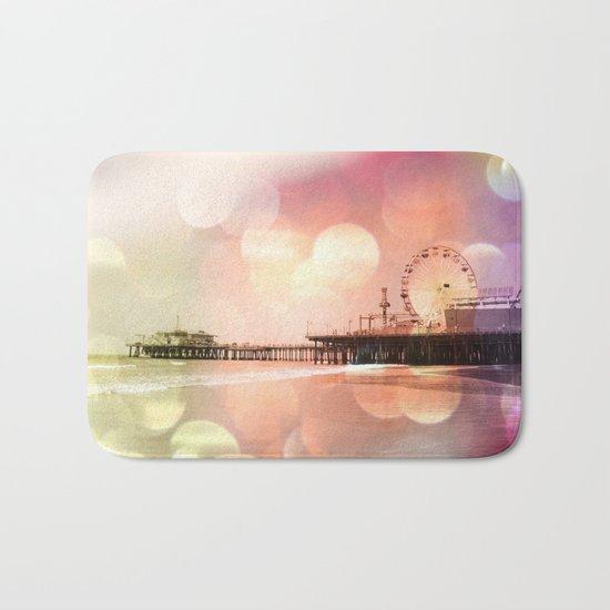 Sparkling pink Santa Monica Pier Bath Mat