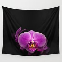 orchid Wall Tapestries featuring Orchid by tinaperko