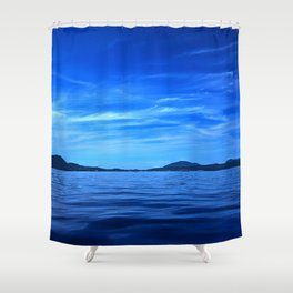 Ionian sea Shower Curtain