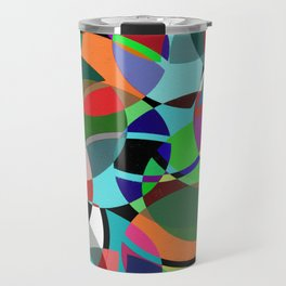 Pastel Pieces II - Abstract, textured, pastel, arcs and circles design Travel Mug