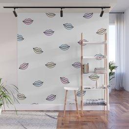 Lips Illustation Wall Mural