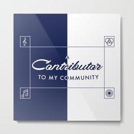 Contributor Metal Print
