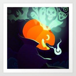 Silly Bestiary : Jack O'Lantern Art Print