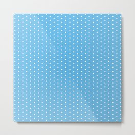 White dots on light blue background Metal Print